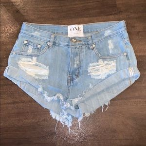One Teaspoon Bandit jean shorts
